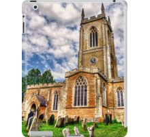 Orlingbury church HDR art  iPad Case/Skin