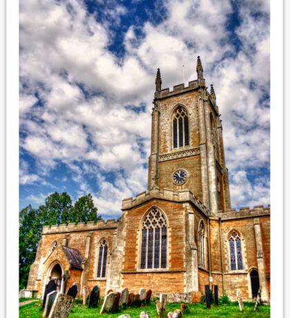 Orlingbury church HDR art  Sticker