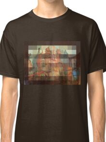 Sunset in Red Pixels on the Blue Dock City Classic T-Shirt