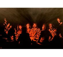The Last Supper : Harmony in Black and Copper Photographic Print