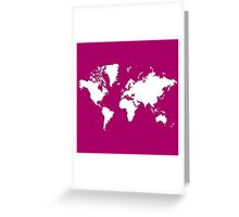 World Splatter Map - wsangria Greeting Card