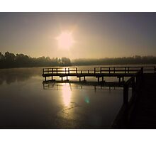 Sunset at Lake Perry Photographic Print