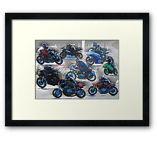 Collection of Motor Bikes Framed Print