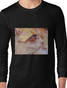 Reds, ( Cat ) from original pastel painting by Madeleine Kelly Long Sleeve T-Shirt
