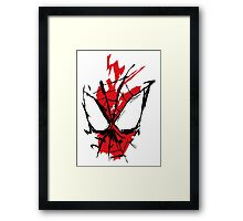 Spiderman Splatter Framed Print