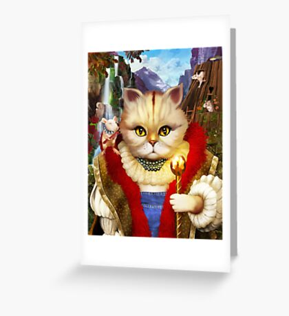 Cat King Greeting Card
