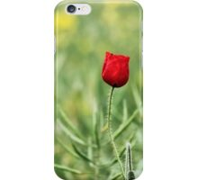 One Red Poppy iPhone Case/Skin