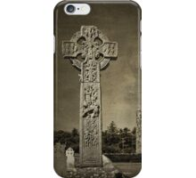 Celtic High Cross - textured iPhone Case/Skin