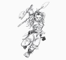Dwarf Warrior (Female) One Piece - Short Sleeve