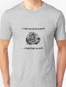 A Single Rose... Unisex T-Shirt