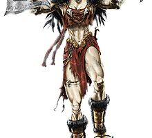 Elven Axe Warrior (Female) by fragworks