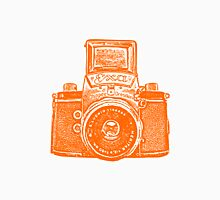 Giant East German Camera - Orange Unisex T-Shirt