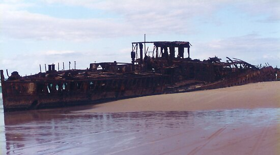 Beached Shipwreck by Michael John
