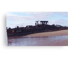Beached Shipwreck Canvas Print