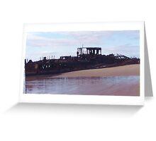 Beached Shipwreck Greeting Card