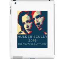 Scully/Mulder 2016 iPad Case/Skin