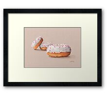 Three Ring Doughnuts, with sprinkles Framed Print