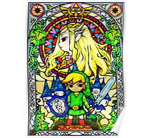 Zelda Wind Waker Stained Glass  Poster