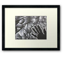 Black Hand Shadow Framed Print