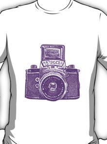 Giant East German Camera - Purple T-Shirt