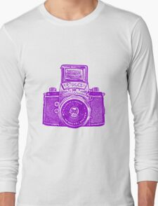 Giant East German Camera - Purple Long Sleeve T-Shirt
