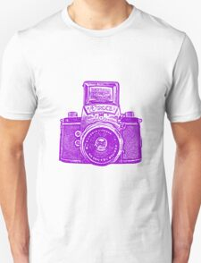 Giant East German Camera - Purple Unisex T-Shirt
