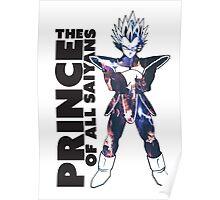 Prince Vegeta Art Decal Poster