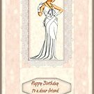 peach birthday card by cynthiab