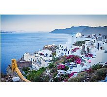 Greek Islands Santorini and wine Photographic Print