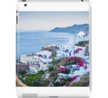 Greek Islands Santorini and wine iPad Case/Skin