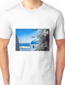 Greek Islands Santorini and wine Unisex T-Shirt