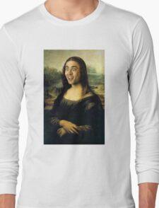 Nicholas Cage Mona Lisa Long Sleeve T-Shirt