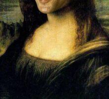Nicholas Cage Mona Lisa Sticker