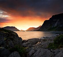 Henningsvaer View by Andreas Stridsberg
