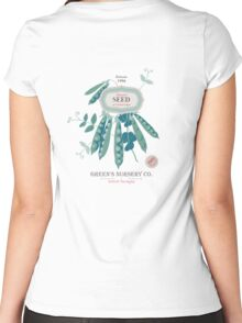 Veg Love Collection No.6 Bean Women's Fitted Scoop T-Shirt