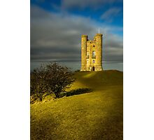 Broadway Tower & Shadows Photographic Print