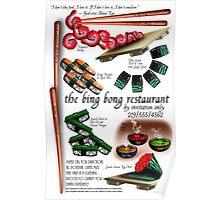Chopsticks as Business Card Poster