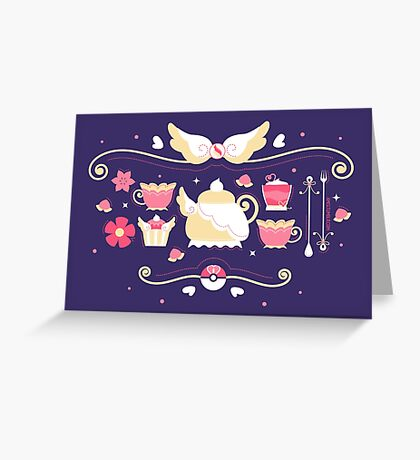 Fairy Tea Time Greeting Card