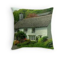 The Cottage Behind The Farm... Throw Pillow