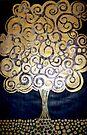 """The Golden Tree (Woodcut Print) by Belinda """"BillyLee"""" NYE (Printmaker)"""