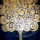 "The Golden Tree (Woodcut Print) by Belinda ""BillyLee"" NYE (Printmaker)"