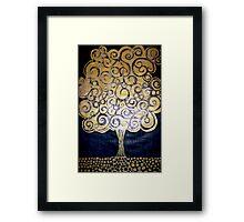 The Golden Tree (Woodcut Print) Framed Print