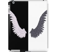 White and Black Wing iPad Case/Skin