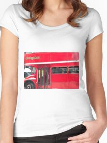 London Red Bus Women's Fitted Scoop T-Shirt