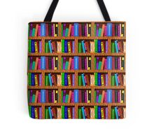 Library Bookshelf Background Pattern for Readers Tote Bag