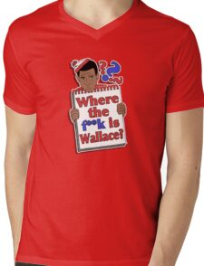 Where the F**k is Wallace? Mens V-Neck T-Shirt