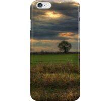 Countryside at dusk iPhone Case/Skin