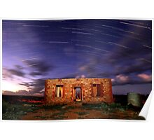 Star Trail Ruins Poster