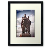 Commando Monument  Framed Print