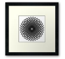Spiral flower Framed Print
